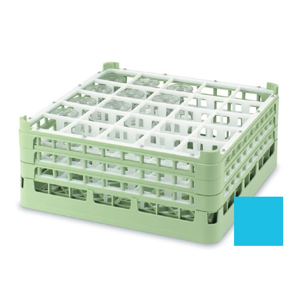 "Vollrath 52711 Dishwasher Rack - 25 Compartment, Tall, Full-Size, 19 3/4x19 3/4"" Blue"