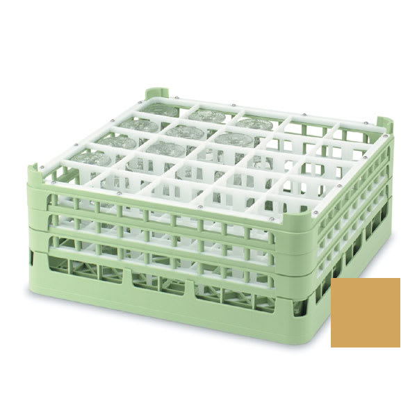 "Vollrath 52711 Dishwasher Rack - 25 Compartment, Tall, Full-Size, 19 3/4x19 3/4"" Gold"