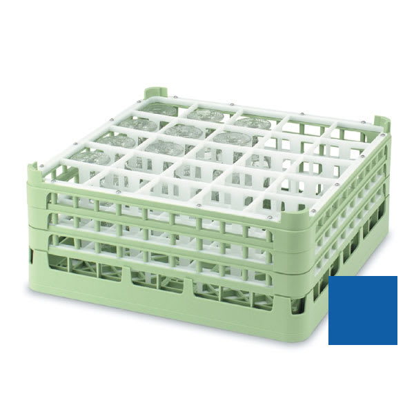 "Vollrath 52711 7 Dishwasher Rack - 25-Compartment, Tall, Full-Size, 19-3/4x19-3/4"" Royal Blue"