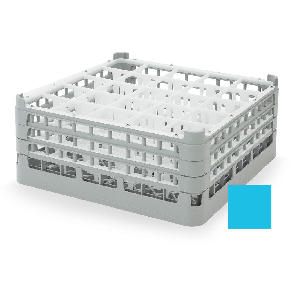 "Vollrath 52712 Dishwasher Rack - 25 Compartment, X-Tall, Full-Size, 19 3/4x19 3/4"" Blue"