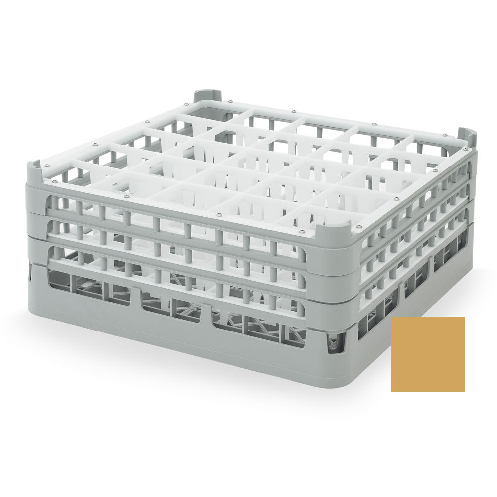 "Vollrath 52712 Dishwasher Rack - 25-Compartment, X-Tall, Full-Size, 19-3/4x19-3/4"" Gold"