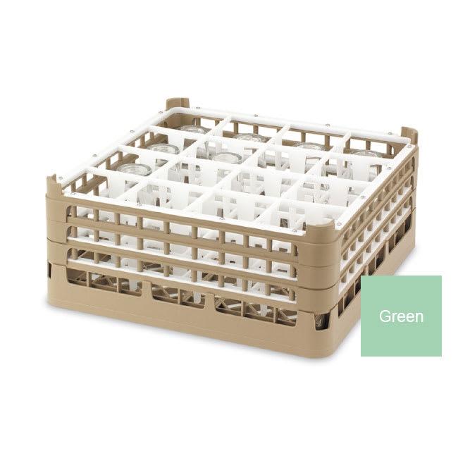 "Vollrath 52718 1 Dishwasher Rack - 16-Compartment, Medium, Full-Size, 19-3/4x19-3/4"" Green"