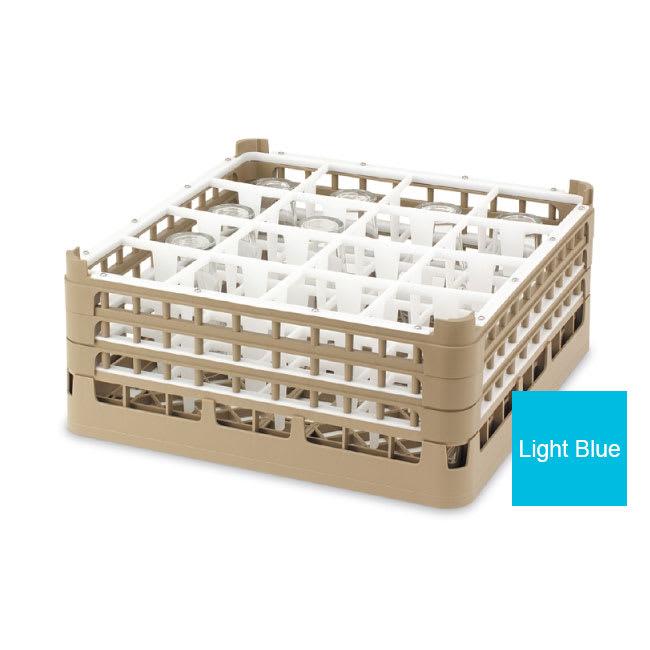 "Vollrath 52718 4 Dishwasher Rack - 16-Compartment, Medium, Full-Size, 19-3/4x19-3/4"" Blue"