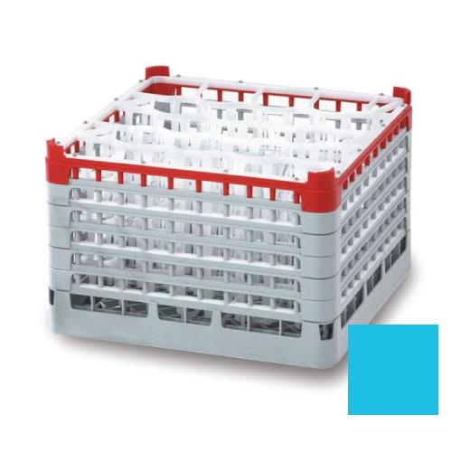 "Vollrath 52720 Dishwasher Rack - 16 Compartment, X-Tall, Full-Size, 19 3/4x19 3/4"" Blue"