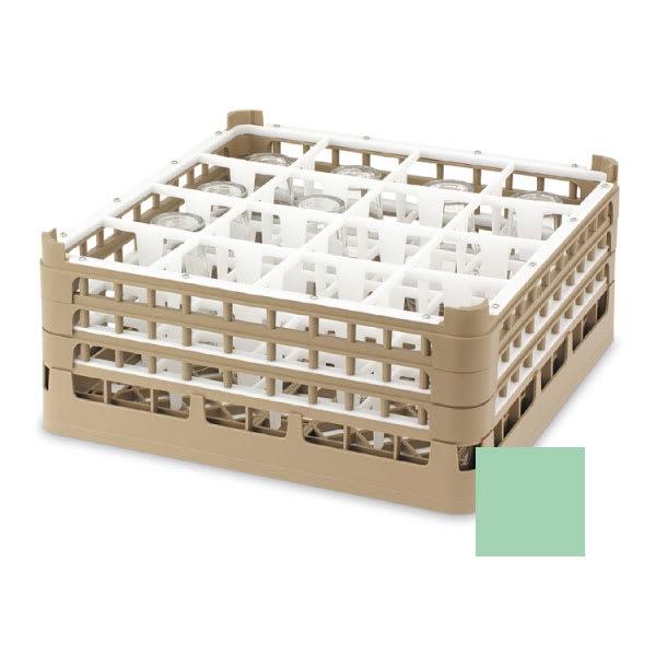 "Vollrath 52721 Dishwasher Rack - 16 Compartment, XX-Tall, Full-Size, 19 3/4x19 3/4"" Green"