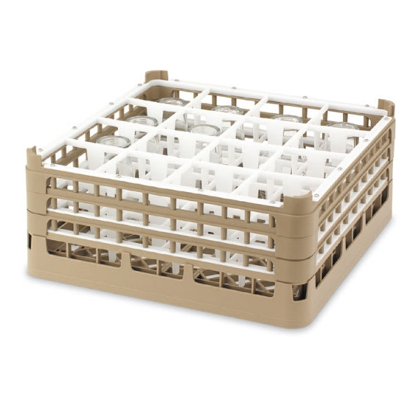 "Vollrath 52721 2 Dishwasher Rack - 16-Compartment, XX-Tall, Full-Size, 19-3/4x19-3/4"" Cocoa"