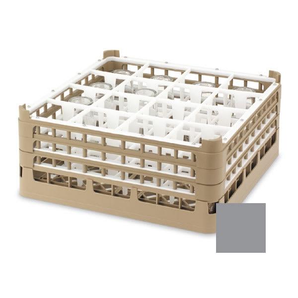 "Vollrath 52721 6 Dishwasher Rack - 16-Compartment, XX-Tall, Full-Size, 19-3/4x19-3/4"" Gray"