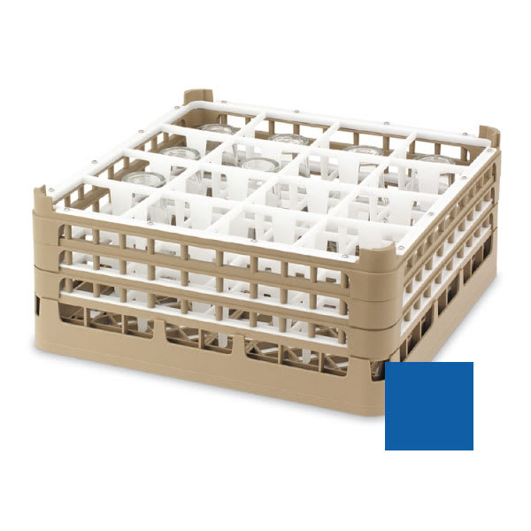"Vollrath 52721 Dishwasher Rack - 16-Compartment, XX-Tall, Full-Size, 19-3/4x19-3/4"" Royal Blue"
