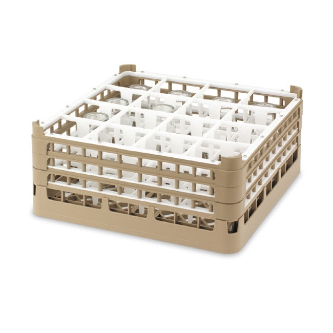 "Vollrath 52724 Dishwasher Rack - 49 Compartment, X-Tall, Full-Size, 19 3/4x19 3/4"" Cocoa"