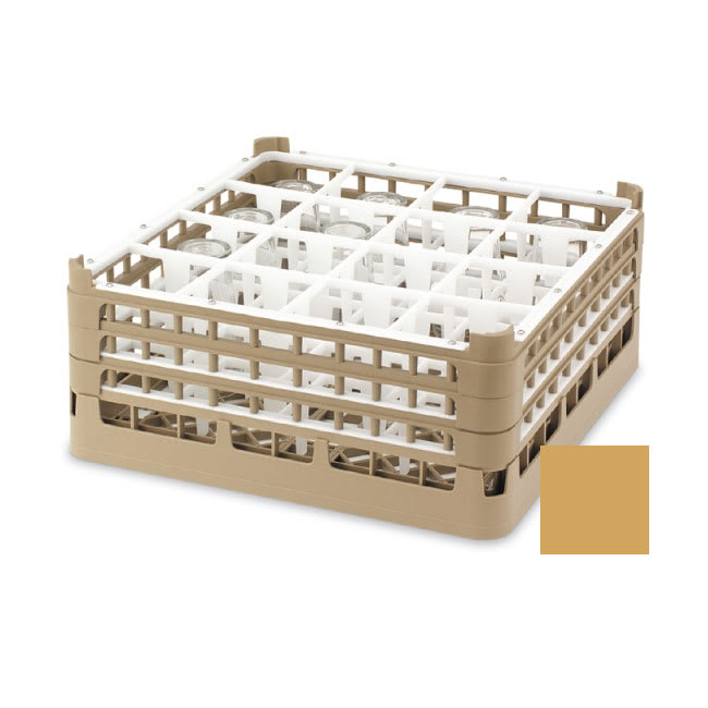 "Vollrath 52725 Dishwasher Rack - 49 Compartment, XX-Tall, Full-Size, 19 3/4x19 3/4"" Gold"