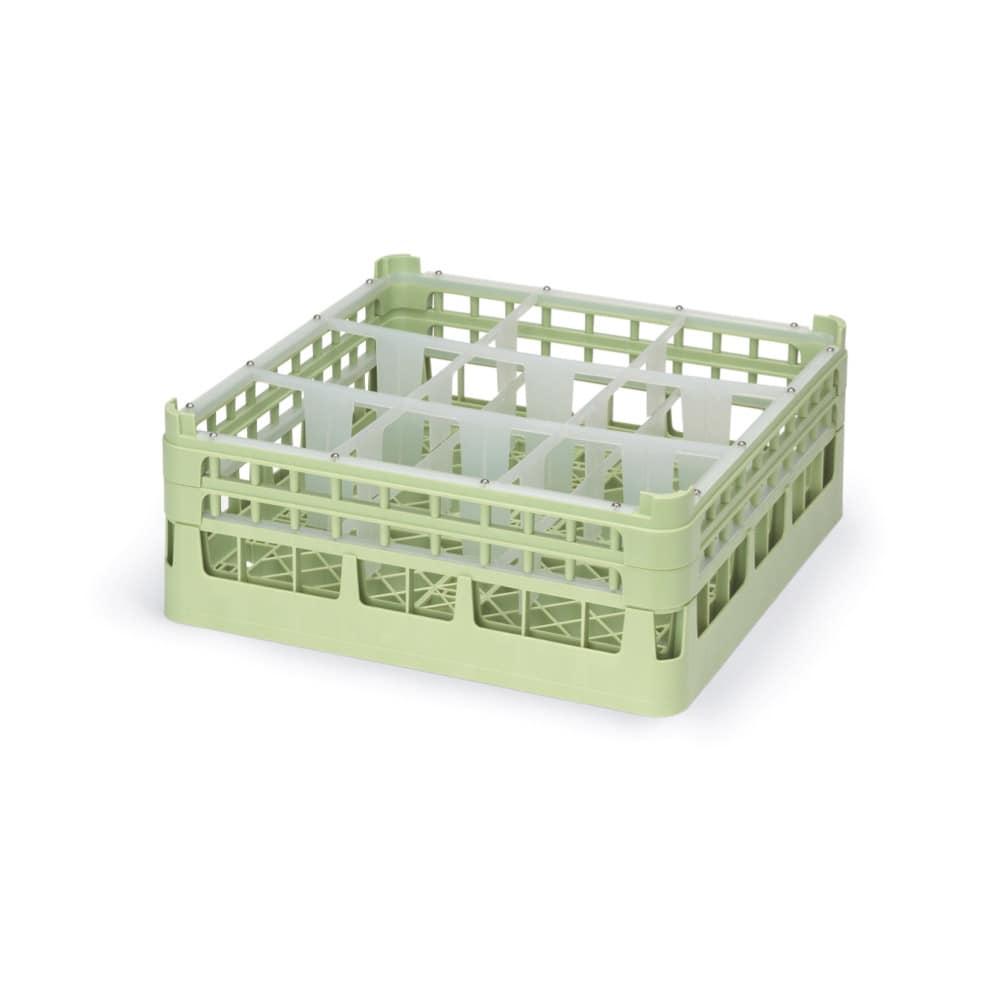 "Vollrath 52727 Dishwasher Rack - 9-Compartment, Medium, Full-Size, 19-3/4x19-3/4"""