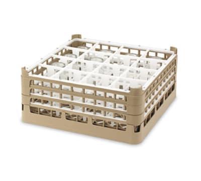 "Vollrath 52732 Dishwasher Rack - 16 Compartment, 3X-Tall, Full-Size, 19 3/4x19 3/4"" Green"