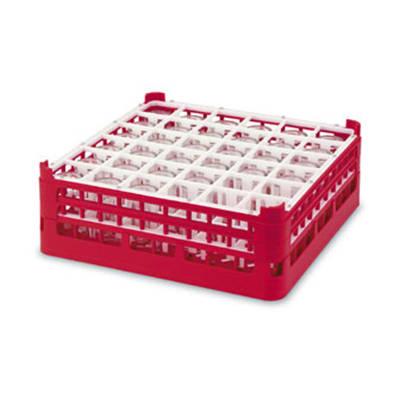 "Vollrath 52739 1 Dishwasher Rack - 36-Compartment, 4X-Tall, Full-Size, 19-3/4x19-3/4"" Green"