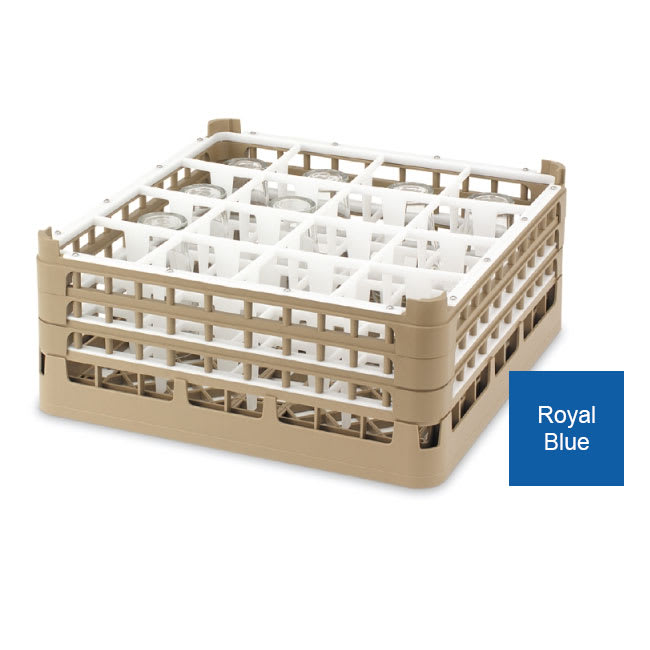 Vollrath 52765 7 Dishwasher Rack - 9-Compartment, 3X-Tall Plus, Full-Size, Royal Blue
