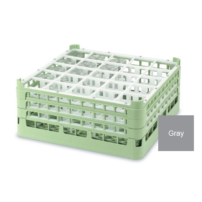 "Vollrath 52773 6 Dishwasher Rack - 25-Compartment, Medium Plus, Full-Size, 19-3/4x19-3/4"" Gray"