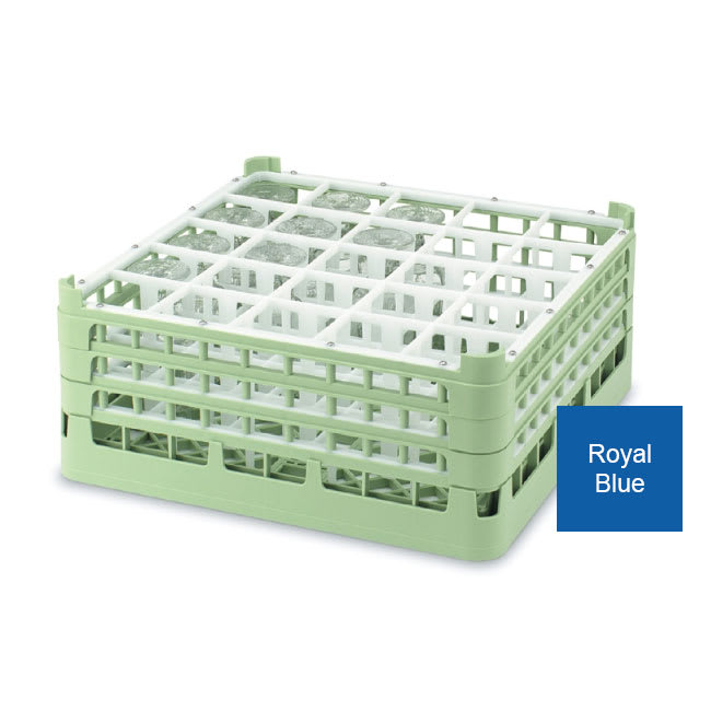 Vollrath 52773 Dishwasher Rack - 25 Compartment, Medium Plus, Full-Size, Royal Blue