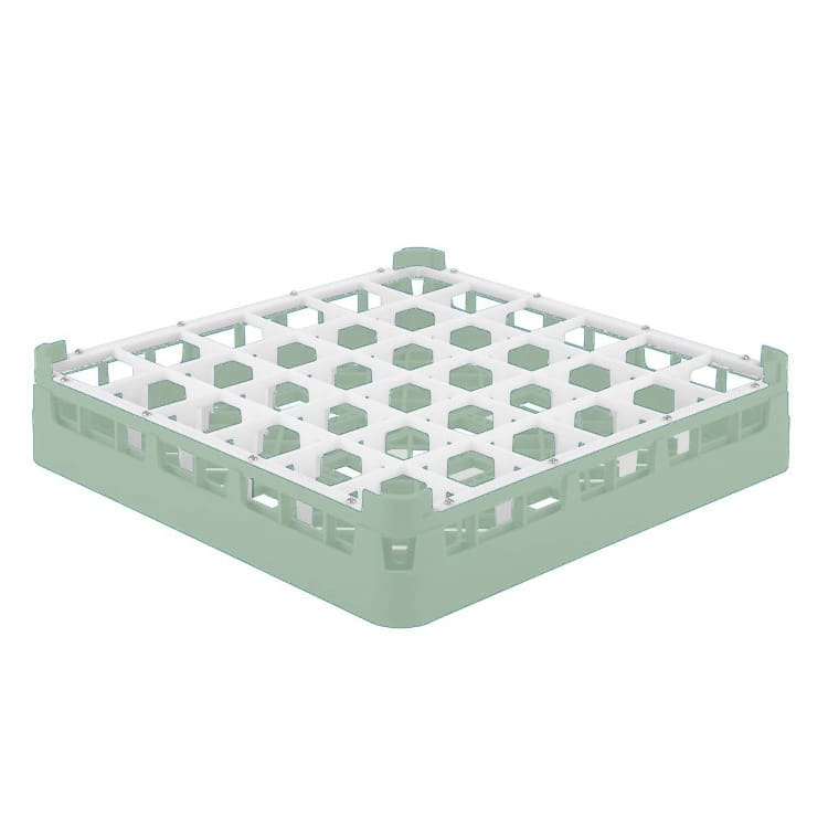 "Vollrath 52778 1 Dishwasher Rack - 36-Compartment, Short Plus, Full-Size, 19-3/4x19-3/4"" Green"