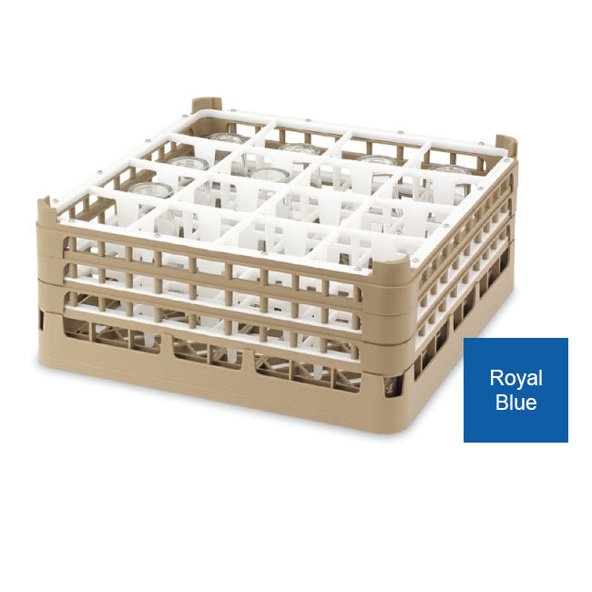 Vollrath 52779 Dishwasher Rack - 36 Compartment, Medium Plus, Full-Size, Royal Blue