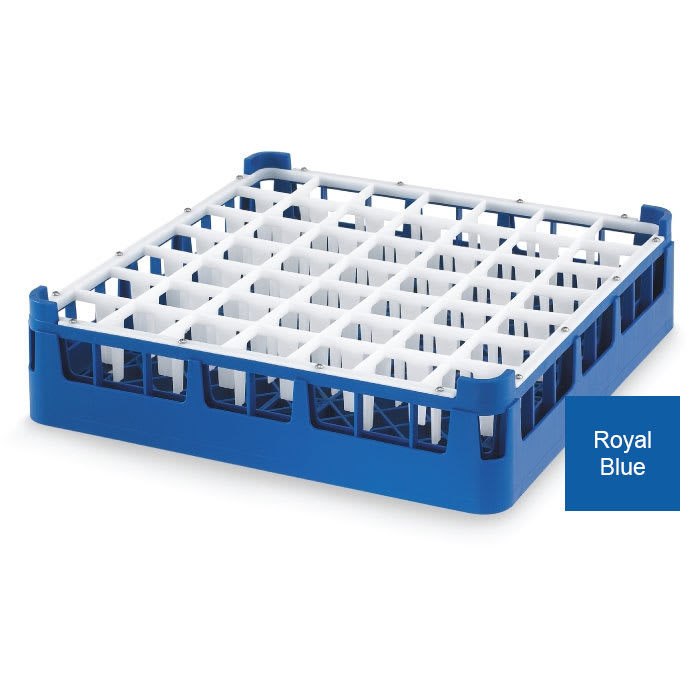 Vollrath 52785 Dishwasher Rack - 49 Compartment, Medium Plus, Full-Size, Royal Blue
