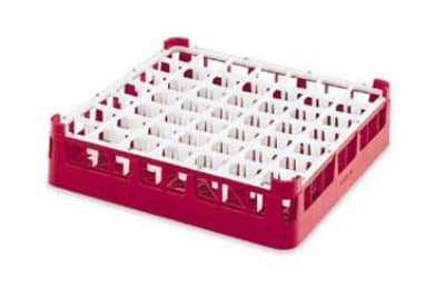Vollrath 52789 Dishwasher Rack - 49 Compartment, 3X-Tall Plus, Full-Size, Burgundy