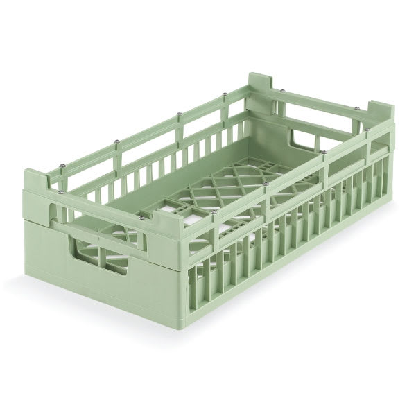 Vollrath 52801 Open Dishwasher Rack - Medium, Half-Size, Green