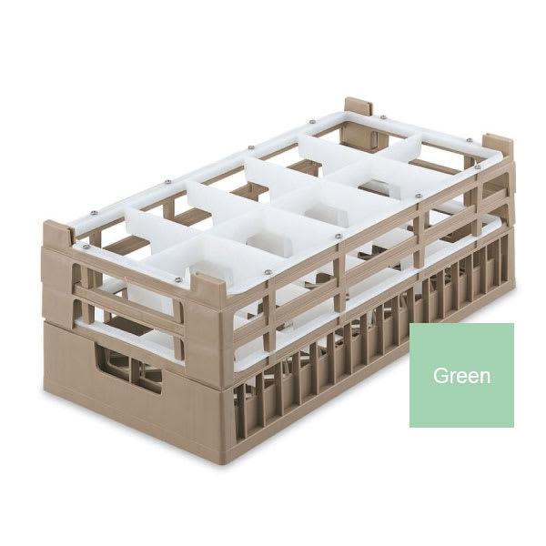 Vollrath 52810 1 Dishwasher Rack - 10-Compartment, Short, Half-Size, Green