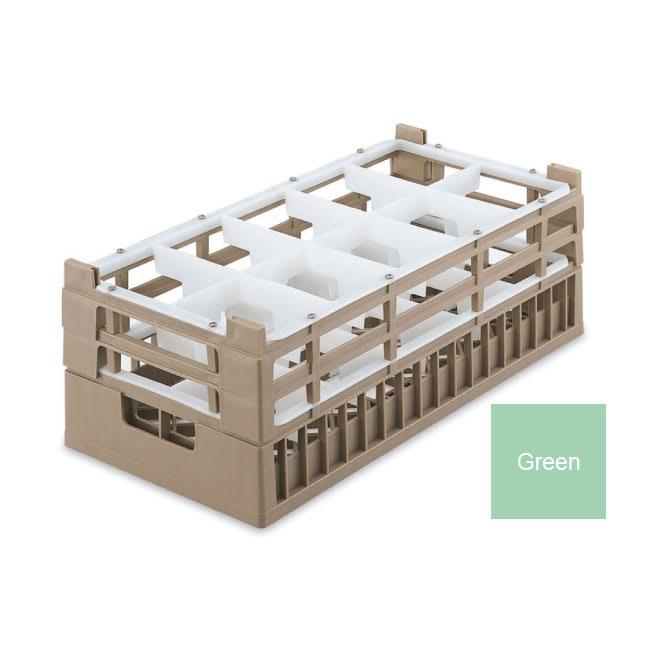 Vollrath 52820 1 Dishwasher Rack - 10 Compartment, Medium, Half-Size, Green