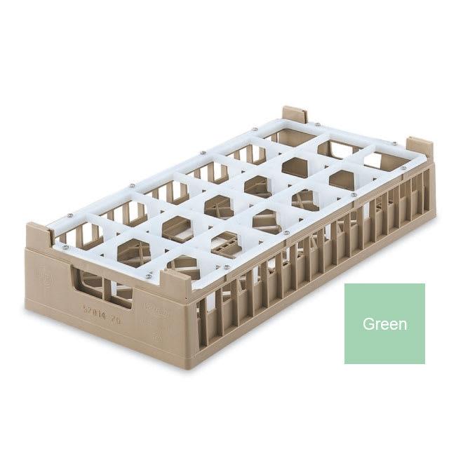 Vollrath 52823 Dishwasher Rack - 18 Compartment, Medium, Half-Size, Green