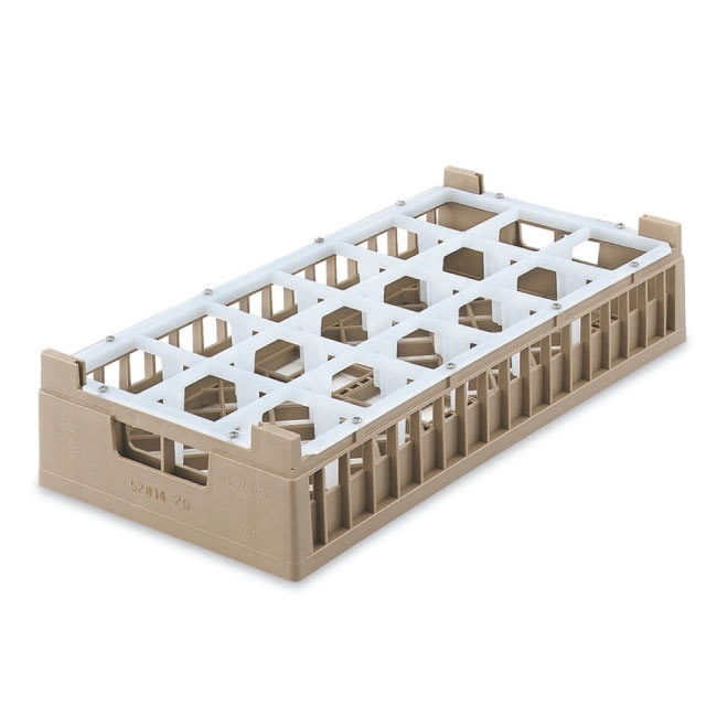 Vollrath 52823 2 Dishwasher Rack - 18 Compartment, Medium, Half-Size, Cocoa