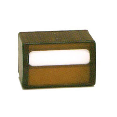 Vollrath 5515-12 Tabletop 2 Sided Napkin Dispenser - Transparent Face, Walnut