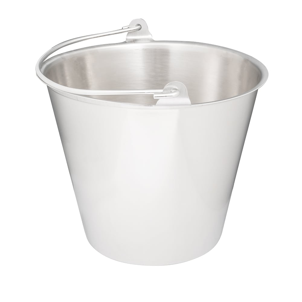 Vollrath 58130 12 1/2 qt Tapered Pail - Stainless
