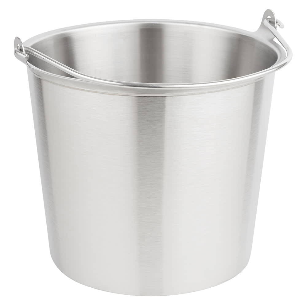 Vollrath 58160 14-3/4-qt Tapered Pail - Stainless