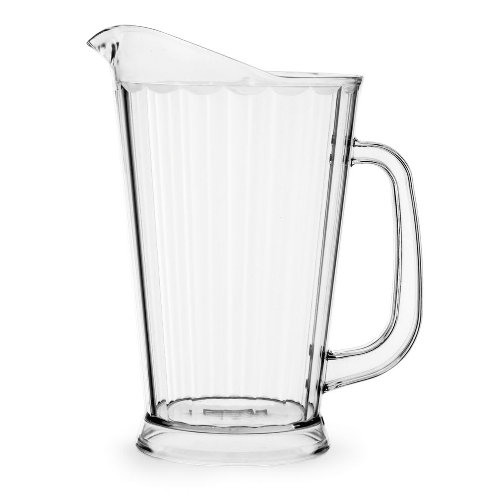 Vollrath 6000-13 60 oz Deluxe Beverage Pitcher - Clear Poly