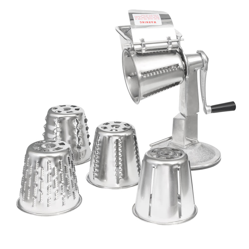 Vollrath King Kutter Manual Food Processor, Suction Cup Base with #1-5 Cones - 6005
