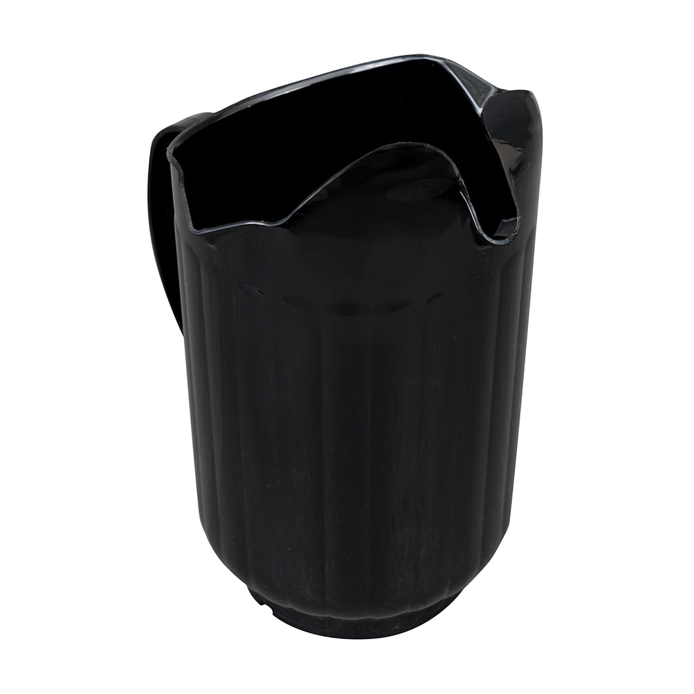 Vollrath 6010-06 60 oz Three-Lipped Pitcher - Black Poly