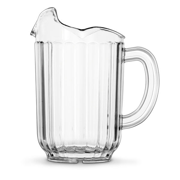 Vollrath 6010-13 60-oz Three-Lipped Pitcher - Clear Poly