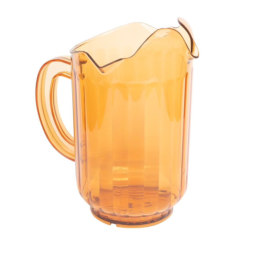 Vollrath 6010-16 60 oz Three-Lipped Pitcher - Amber Poly