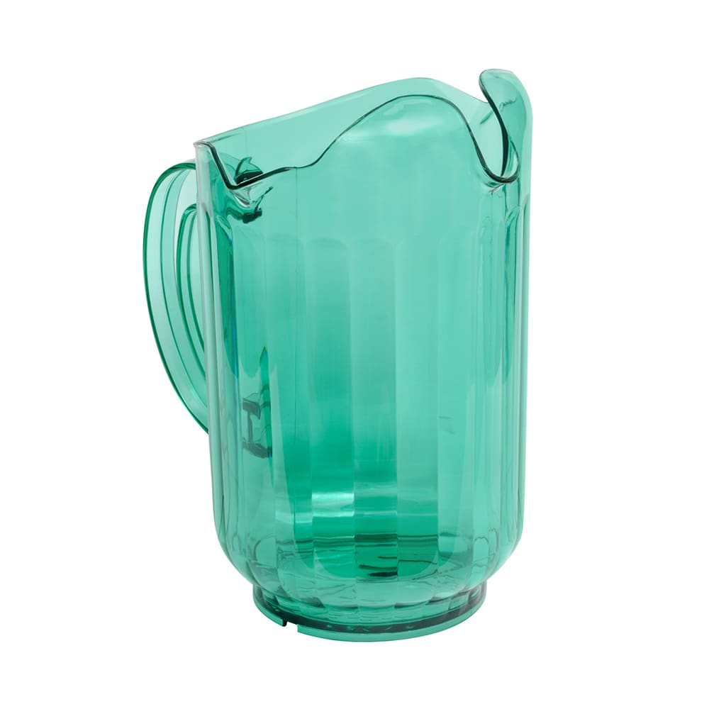 Vollrath 6010-19 60 oz Three-Lipped Pitcher - Margarita Green Poly