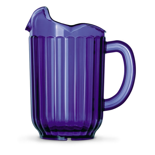 Vollrath 6010-44 60-oz Three-Lipped Pitcher - Cobalt Poly
