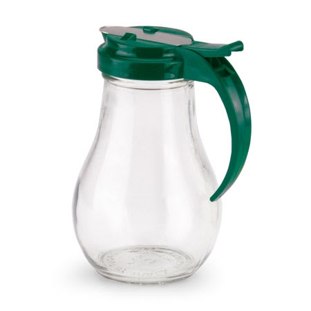 Vollrath 614-191 14 oz Syrup Server - Vista Green Plastic Cap, Glass Jar