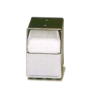 Vollrath 6509-12 Table-Type Napkin Dispenser - 2-Sided, Chrome Face, Walnut