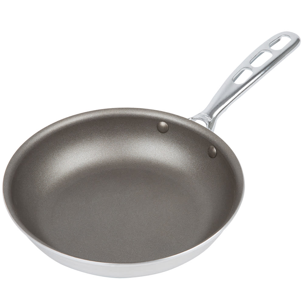 "Vollrath 67008 8"" Non-Stick Aluminum Frying Pan w/ Vented Metal Handle"