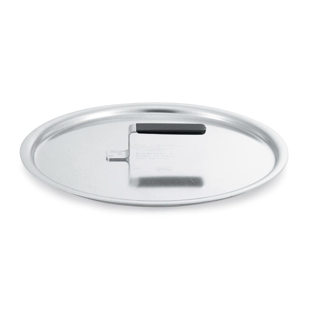 "Vollrath 67315 9.87"" Flat Stock Pot Cover, Aluminum"