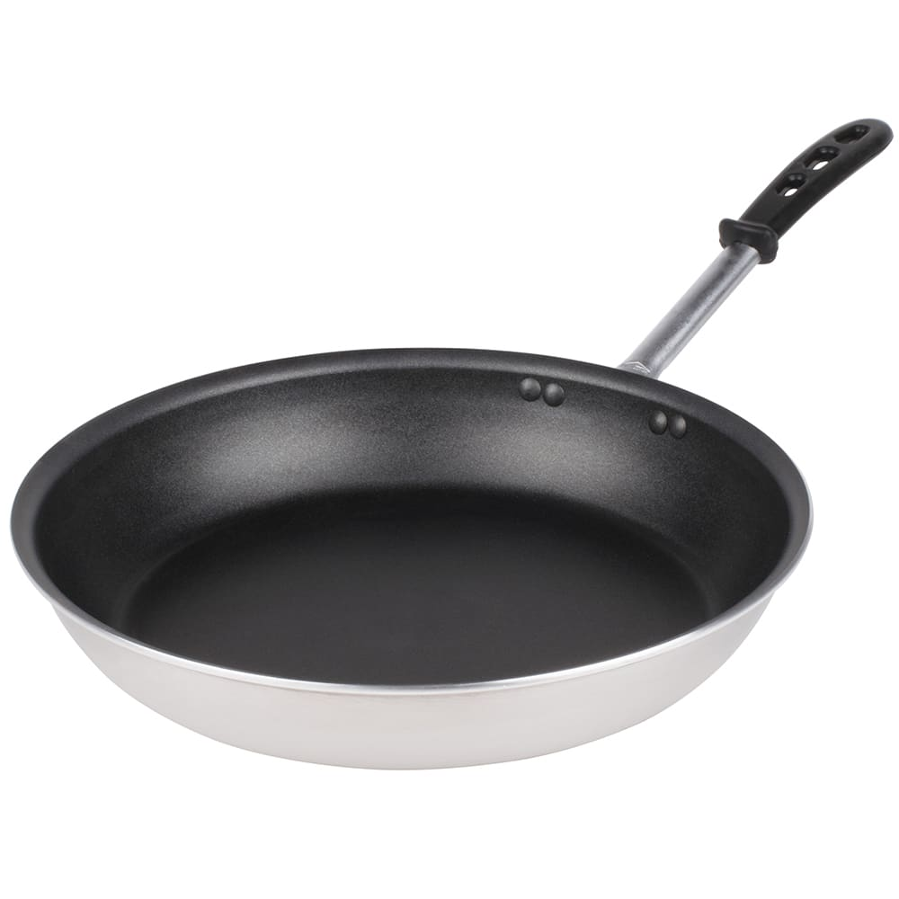 """Vollrath 67934 14"""" Non-Stick Aluminum Frying Pan w/ Vented Silicone Handle"""