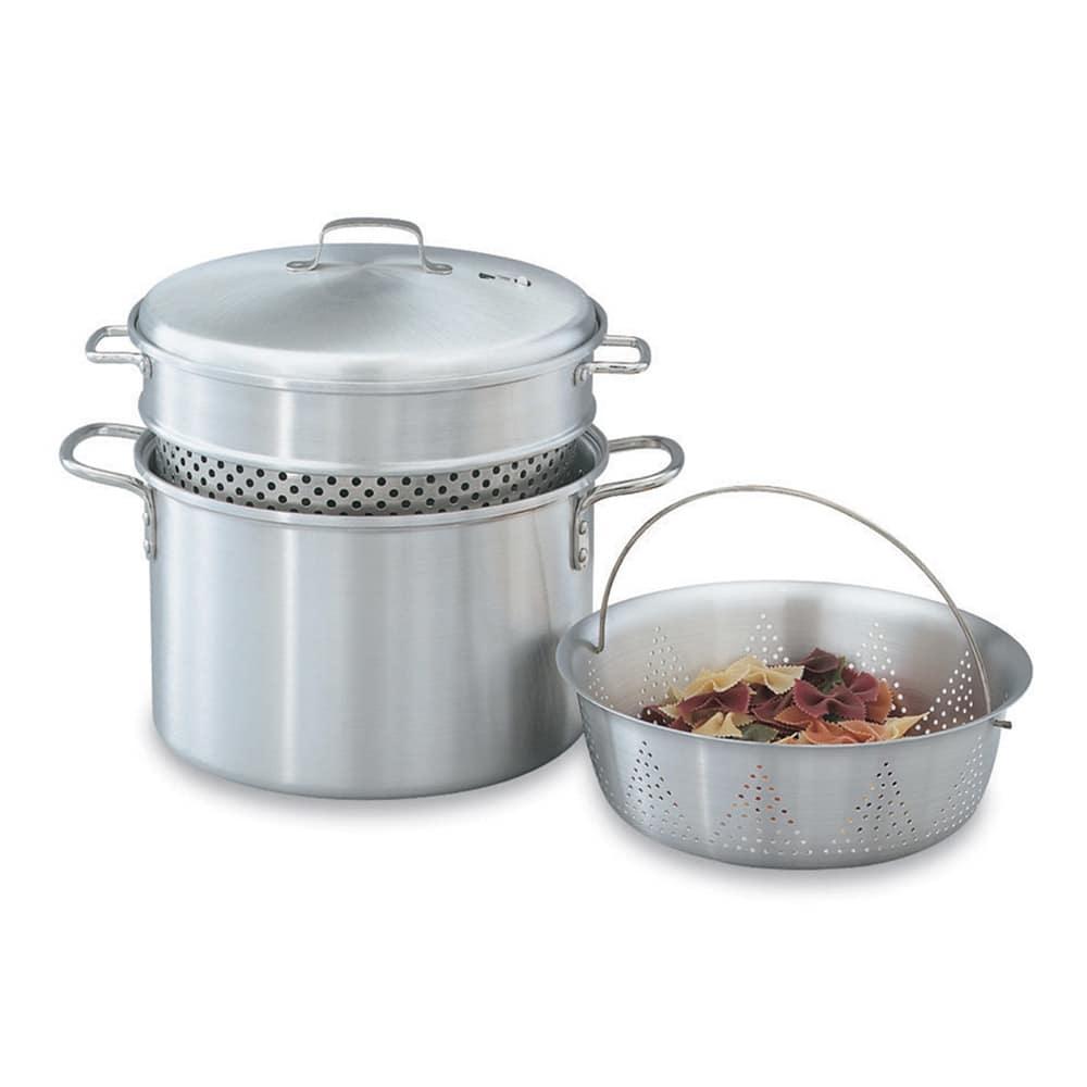 Vollrath 68126 8-qt Pasta Cooker Vegetable Steamer - 4-Piece, 18-ga Aluminum
