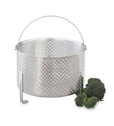 "Vollrath 68288 Footed Steamer Basket - 7"" Deep, Aluminum"