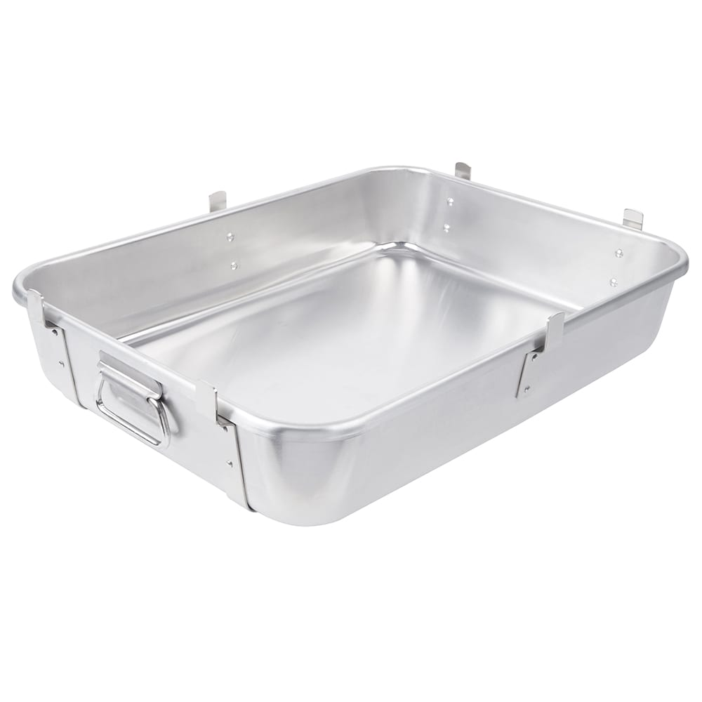 "Vollrath 68362 29 3/4 qt Roasting Pan Bottom with Straps - 24x18x4 3/4"" Aluminum"