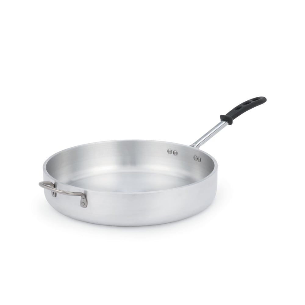 "Vollrath 68737 14"" Saute Pan - Heavy-Duty, Silicone Insulated Handle, Aluminum"