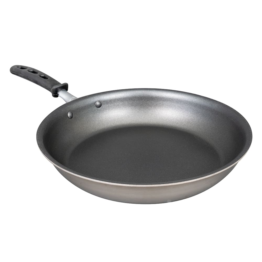 "Vollrath 69112 12"" Non-Stick Steel Frying Pan w/ Vented Silicone Handle"