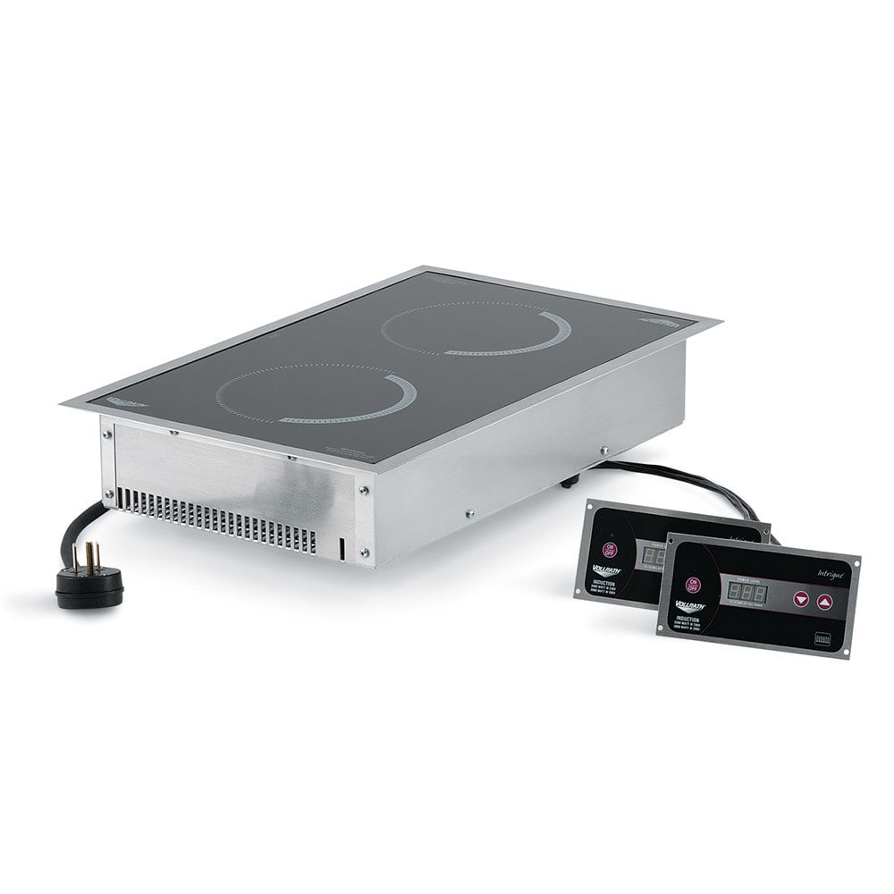 Vollrath 69508 Drop-In Commercial Induction Cooktop w/ (2) Burners, 208-240v/1ph